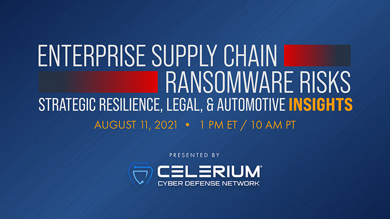 Webinar: Enterprise Supply Chain Ransomware Risks